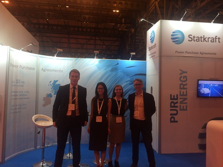 Statkraft markets team UK at stand